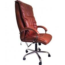 Офисное массажное кресло EGO BOSS EG1001 Махагон в комплектации ELITE (кожа)