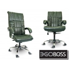 Офисное массажное кресло EGO BOSS EG1001 в комплектации ELITE (натуральная кожа)