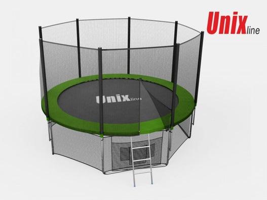 Батут Unix Line 12 ft с внешней сеткой
