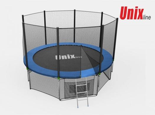 Батут Unix Line 14ft с внешней сеткой